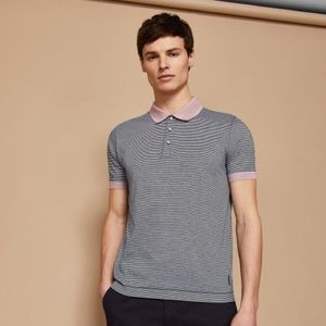 Ted Baker London SS Beagle Striped Polo Small